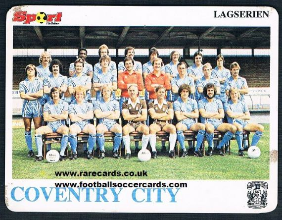 1979 Coventry City team NORWAY